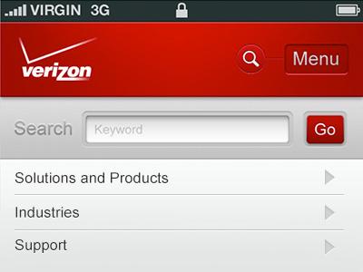 Mobile Site iphone mobile ui app header navigation button search menu