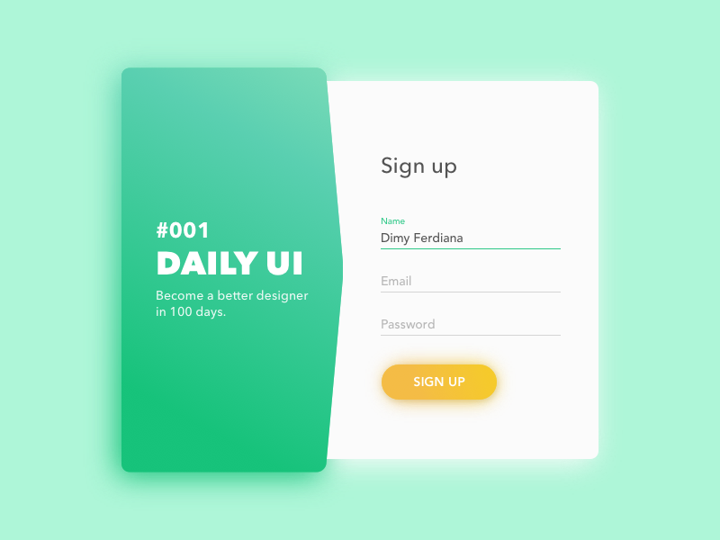 sign up modal by dimy ferdiana dribbble dribbble