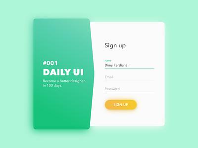 Sign Up Modal sign up gradation web ux ui minimal login clean