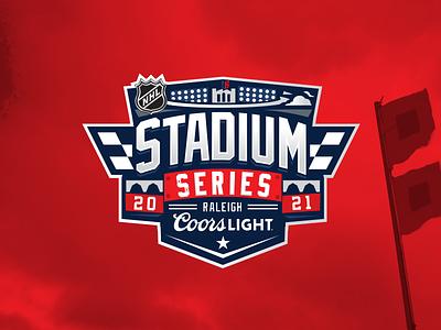 Carolina Hurricanes Stadium Series Logo patch hand drawn stadium series raleigh carolina branding illustration design logo design emblem sports hockey nhl