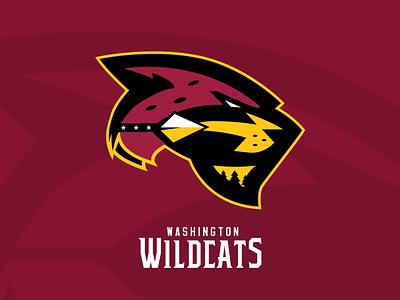Washington Wildcats cat trees arrowhead capital emblem design logomark redesign football wildcat illustration sports branding sports design nfl washington dc washington redskins