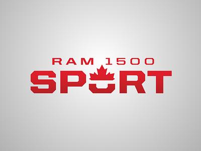 Ram Canada 1500 Sport leaf branding logo red ram maple leaf truck vehicle canada sport