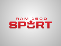 Ram Canada 1500 Sport leaf branding logo red ram maple leaf truck vehicle canada sport