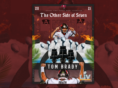 The Other Side Of Seven florida sports retouch kiss the ring seven champa bay mvp vince lombardi patriots tampa bay athlete football sports design nfl bucaneers tom brady