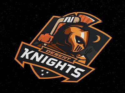 Las Vegas Desert Knights Concept hockey stick western conference expansion hockey sports logo knights desert las vegas nhl