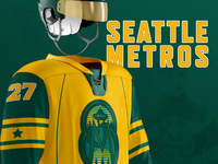 Seattle Metros NHL Expansion Team Jersey Concept