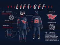 Kalamazoo Wings Lift Off Jersey Design