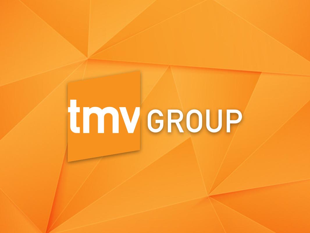 TMV Group Rebrand design detroit tmvgroup triangles logomark orange advertising agency rhombus illustraiton logo design branding agency agencies