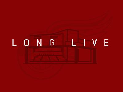 Long Live The Joe sports design red logo hockey illustration emblem sports detroit michigan red wings nhl