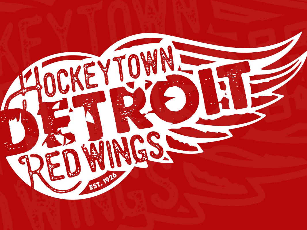 Red Wings Apparel Design Submission logo branding logomark michigan hockey illustration sports logo vector emblem sports detroit red wings nhl