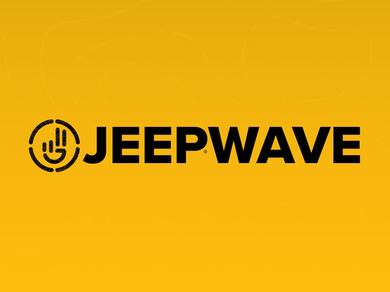 Jeep Wave Logo topography willys yellow logomark logo jeepin enthusiast trail off road wave