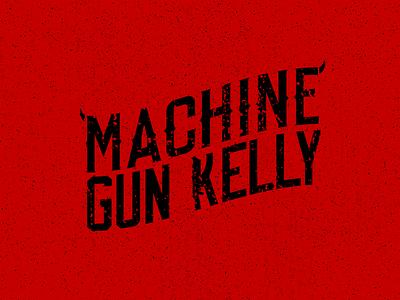 Machine Gun Kelly Logo hip hop music logo design type font logo type machine gun kelly illustration red logo apparel