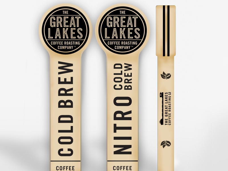 Nitro and Cold Brew Keg Taps brewery illustration product emblem nitro coldbrew cold detroit craft beer tap coffee