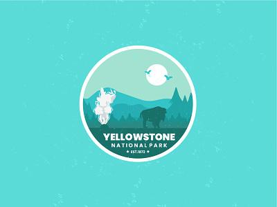 Yellowstone National Parks apparel merch animation motion graphics graphic design vintagedesign branding line art logo ui retro flat design badge vector illustration