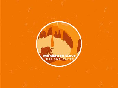 Mammoth Cave adventure line art design badgedesign drawing vintage logo ui graphic design branding retro flat badge vector illustration