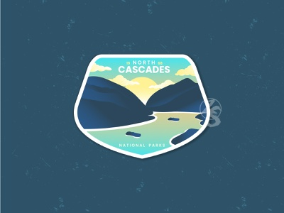 North Cascades National Park photoshop natural outdoor motion graphics animation 3d graphic design flat branding logo ui retro design vector badge line art illustration