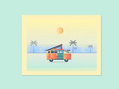 Summer vacation sketch line art badge flat icon adventure art line design flat design sea summer vector illustration