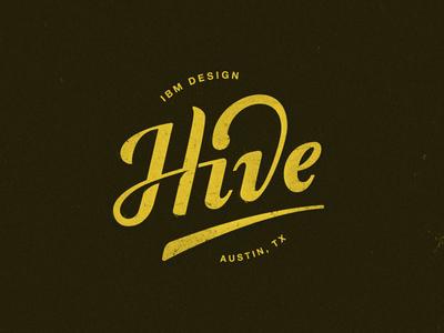 Hive sxsw hand type hand letter ibm design logo