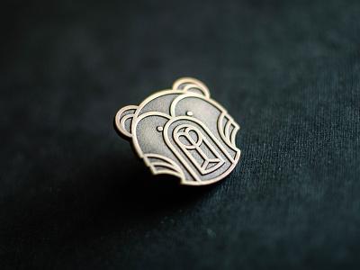 Bear pin   Lapel pin geometric logo bears enamelpin monoweight geometric vector pin lapelpin bear
