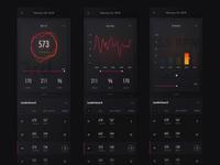 Competitive fitness app dark app mobile leaderboards fitness dark ui dark theme dataviz data visualisation data visualization cycling data leaderboard
