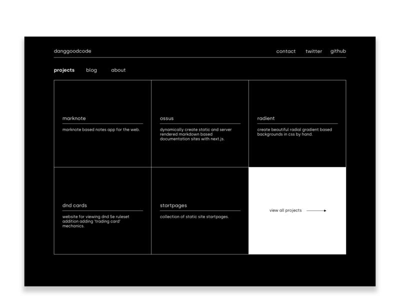 Personal Site web  design minimal brutalism site design personal branding