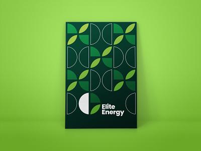 Elite Energy Branding leaf energy pattern logotype branding identity logo typography