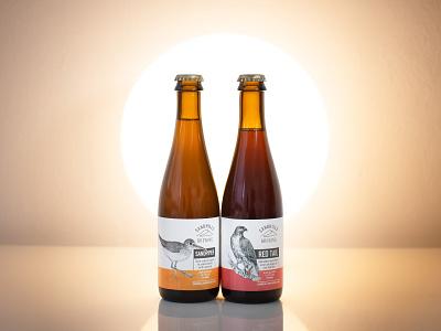 Sandhills Brewing Label typography design illustration kansas city bottle design bottle label bottle packaging identity beer branding beer label beer art beer