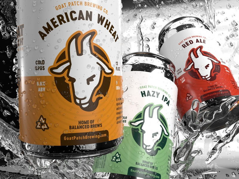 Limited Edition 12oz Cans dimension 3d art 3d logo illustration branding identity typography goat goat patch cans packaging label design label beer art beer branding beer label beer