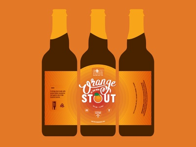 Limited Edition Orange Stout ipad pro cursive illustration branding design logo typography bottle mockup bottle design beer branding beer label beer
