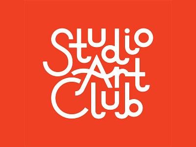 Studio Art Club branding identity logo custom type custom lettering typogaphy teaching teacher art club studio art club art studio