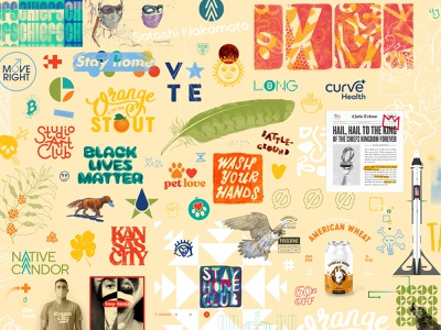 2020 at a glance. kansas city beer illustration iconography icon identity design branding logo typography