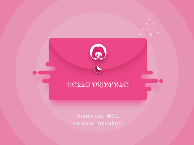 First shot hello dribbble thanks invitation dribbble hello shot first
