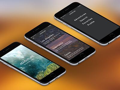 Adventure.app apple iphone explore adventure travel mobile app ios