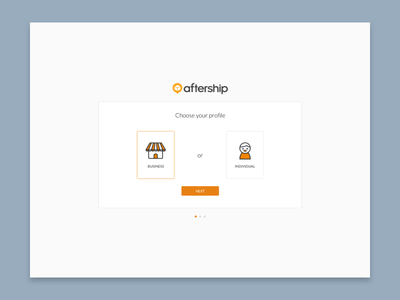 AfterShip User Onboarding tracking guide profile business aftership onboard form signup illustration ux ui onboarding