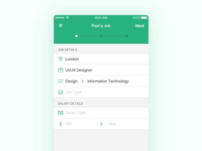 iOS Job Posting Form