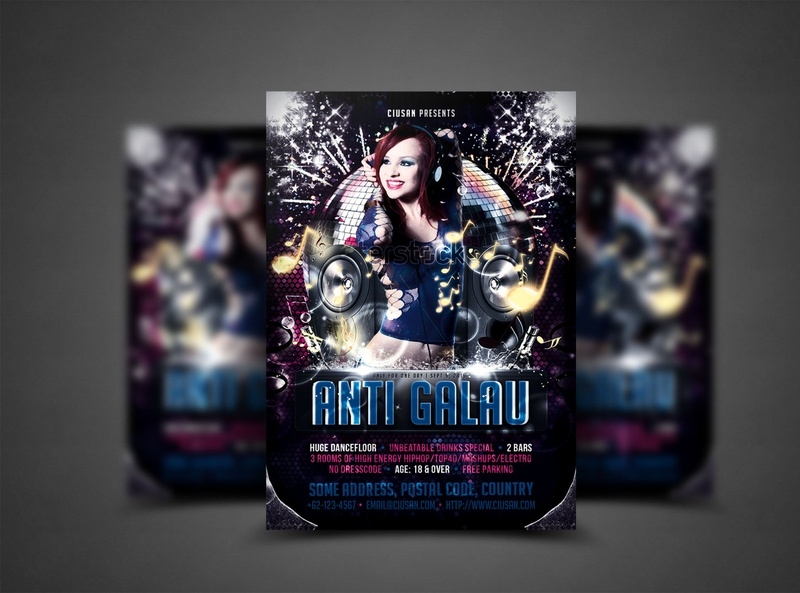 Anti Galau Flyer Template circle catalog card business brochure booklet book blank banner ball background annual advertising advert ad abstract a4
