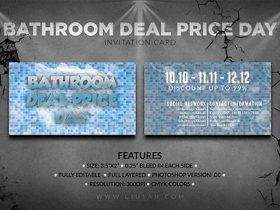 Bathroom Deal Price Day   Invitation Card effect detail design decorative decoration decor counter ceramic card business black bathroom bath banner background backdrop art architecture abstract