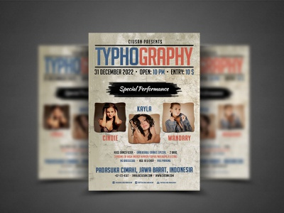 Typhography Flyer Template design decoration creative design cover corporate concept circle catalog card business booklet blue blank banner background back art advertise abstract