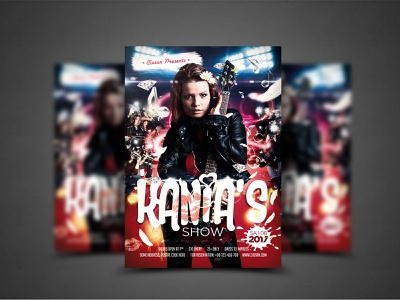 Kania s Show Flyer Template discotheque disco design dance creative cover concert company club celebration card business brochure beat banner background art advertising abstract