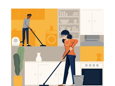 clean team illustration design styletest vector style retro characters people