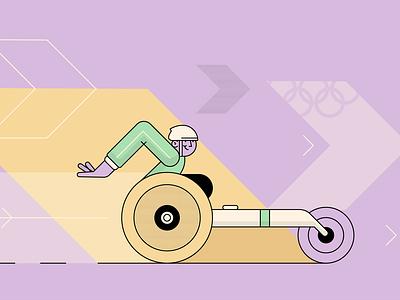 paralympics paralympics olympics sport illustration vector style retro characters people