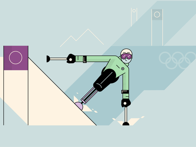 Paralympics illustration vector style retro characters people