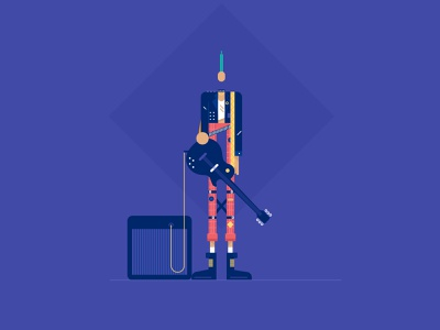 punker illustration design website styletest vector style retro characters people
