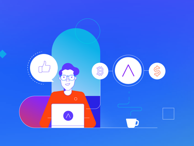 coin website styletest vector style retro characters people
