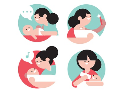 Moms for Health 24 medicine medical hospital and mother baby moms mom health illustrations