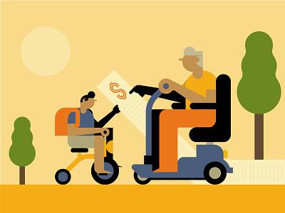 Pension concept conceptual vector magazine editorial