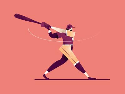 Baseball retro style styletest website ui ux hr workforce office people characters
