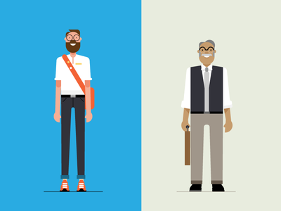 Style test retro style styletest website ui ux hr workforce office people characters