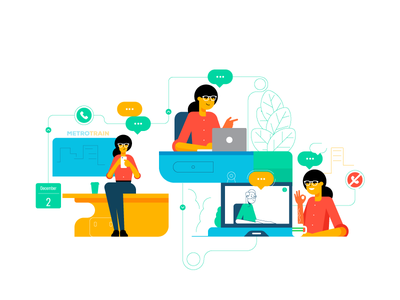 Styletest retro style styletest website ui ux hr workforce office people characters