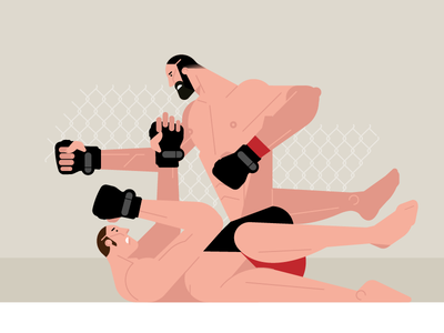 WIP vector fighting man mma fightnight fight ufc